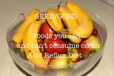 Random Drawers: Living with GERD/GORD- Foods you can and can't consume on an Acid Reflux Diet