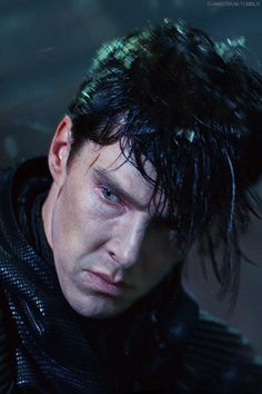 """Great shot of Khan. Love his intensity. BC""""s Khan is the most complex Star Trek villain to date. He has such a powerful presence in the film."""