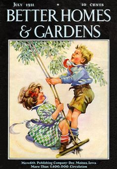 ... Garden ~ Better Homes and Gardens | 1931-07 | Vintage Magazine Cover