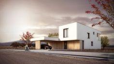 Nízkoenergetický rodinný dům s plochou střechou Levín u Berouna