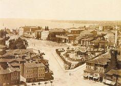 Sultanahmet, Istanbul. 1875. Sağda Firuzağa camii ve divanyolu,sol taraf ayasofya mahallesi