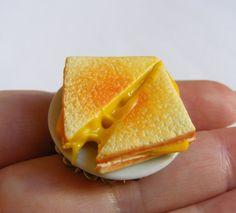 Alimentaire bijoux bague de fromage grillé toasté par NeatEats