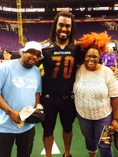 Focus Boy & my wife LaPasha meets Arena Football Arizona Rattlers  #70 Marcus Pittman DL from Troy State (AL)  Focusboysports.sportsblog.com Focus Boy Sports your Home for exclusive Entertainment!