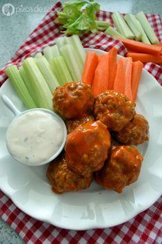 Albóndigas o nuggets de pollo estilo boneless (sin empanizado & sin aceite)   www.pizcadesabor.com