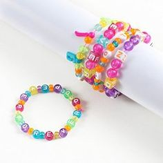 Make bead bracelets to be a Sister to Every Girl Scout. This can also be used for Considerate and Caring and make bracelets for those you love for Valentine's Day.