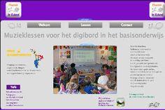 Muzieklessen voor het basisonderwijs, online lesmateriaal voor het digibord.