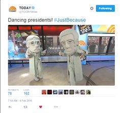 Presidents Doing Big Things on the Today Show!
