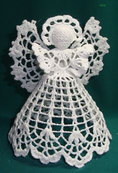 Discover thousands of images about Best 11 angel 3 Crochet Angel Pattern, Vintage Crochet Patterns, Crochet Angels, Crochet Stars, Crochet Snowflakes, Doily Patterns, Thread Crochet, Crochet Flowers, Crochet Christmas Decorations