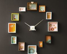 Fill frames with pictures of family - I'll be there at Grandma o'clock!