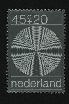 Postzegel Nederland 1970, Zomerpostzegel Vier spiralen