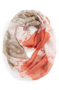 Boho chic lace Infinity Scarf