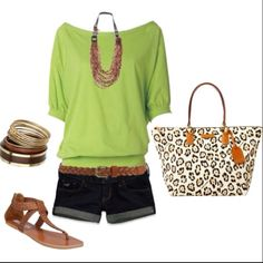 Love the Green!! I will definately need a tan for this outfit.