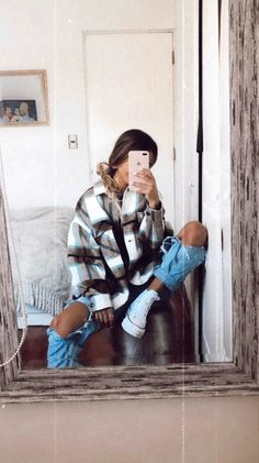 Trendy Fall Outfits, Casual School Outfits, Cute Comfy Outfits, Winter Fashion Outfits, Retro Outfits, Outfits For Teens, Look Fashion, Stylish Outfits, Cool Outfits