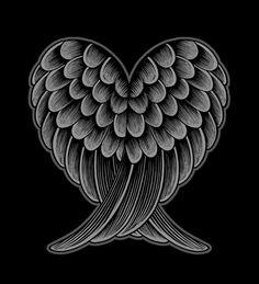 Heart Wings [Reversed Version] Art Print