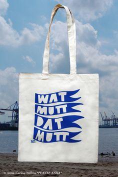 Jutebeutel mit Print // tote bag with typo print via DaWanda.com