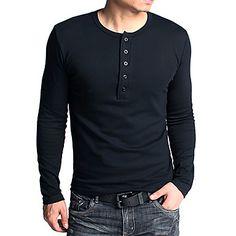 Gentlemens mode långärmad tight tröja – SEK Kr. 156