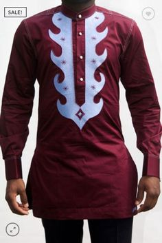 African Clothing for Men-African Print Clothing for Men-African Menswear Wedding Suit-Dashiki for Men-Ankara Clothing - Dashiki TOP&PANTS African Shirts For Men, African Dresses Men, African Tops, African Clothing For Men, African Attire, African Wear, Nigerian Men Fashion, African Men Fashion, Dashiki For Men