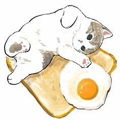 Kitten Drawing, Cute Cat Drawing, Cute Animal Drawings, Kawaii Drawings, Cute Drawings, Cat Drawing Tutorial, Stickers Kawaii, Cute Stickers, Cat Icon