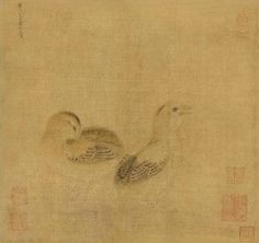 Li Di (attributed to, circa Song to Yuan dynasty), Young birds. Ink and colour on silk, hanging scroll, 23× 25 cm. Provenance: Collection of an oil painter from the Taisho period