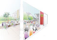 The concept design for Corbans Creative Quarter in Waitakere