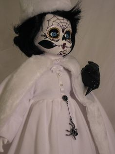 Hand Painted Day of the Dead Doll  Sugar by ReAnimatedCreations, $65.00