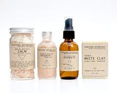Sensitive Skin Care Set. 100% Natural Vegan Skin Care & Bath Set. On Etsy by HerbivoreBotanicals
