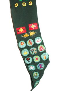 Vintage Girl Scouts sash with sewn on patches badges Kansas City Troop 541 by sweetalicelovesyou on Etsy