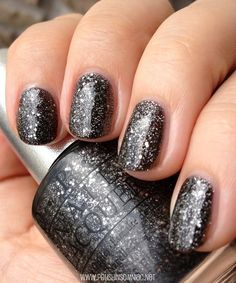 OPI DS Pewter with top coat