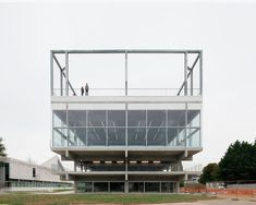 Completed in 2016 in France. Images by Maxime Delvaux. The project is a public facility, situated on the new campus of Paris-Saclay. The building hosts a mix of activities including indoor and outdoor. Contemporary Architecture, Art And Architecture, Amsterdam Architecture, Gif Sur Yvette, Paris Saclay, Paris France, Journal Du Design, Open Staircase, Sport Hall