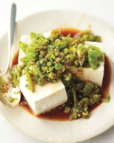wholesome dinner:  Tofu with Snap Peas and Scallions - Whole Living Eat Well