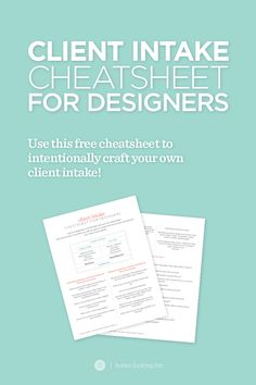 Are you a graphic or web designer who seems surprised by the direction your design is going? What if you could simplify your design process down to one concept with one set of revisions? Click through to read more about how I streamlined my design process and grab your free client intake / brand questionnaire cheatsheet »