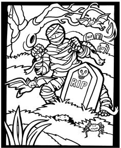 Decorate For Halloween Fun Kit By Dover Publications COLORING PAGE