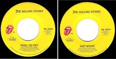 The Rolling Stones / Fool To Cry (1976) / Rolling Stones RS-19304 (Set of 4)…