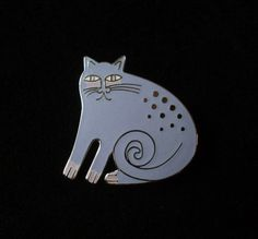 LAUREL BURCH Lavender Keshire Cat Pin or Pendant by Circa71Jewelry
