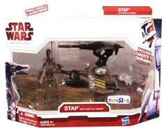 2009 Clone Wars Deluxe Boxed Stap with Battle Droid C-9
