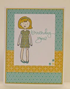 stylin' girl stampin up cards - Google Search