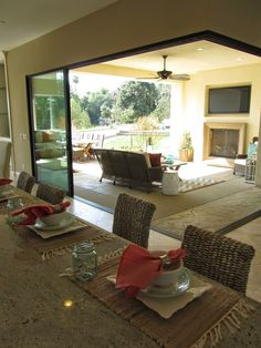 Open Patio And Dining Room Model Homes | Talks A Lot