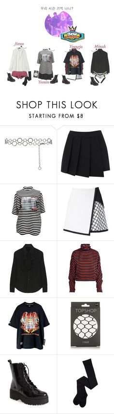 """《Comeback Stage & Second Win》4U - Remember Our Time on Show Champion"" by real4u ❤ liked on Polyvore featuring Sonia Rykiel, rag & bone, M.Y.O.B., AKANE UTSUNOMIYA, Karl Lagerfeld, McQ by Alexander McQueen, Topshop and Jeffrey Campbell"