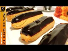 Éclairs rellenos de crema pastelera / Éclairs filled with pastry custard - YouTube