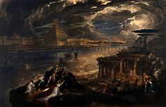 Le Prince Lointain: John Martin (1789-1854), The Fall of Babylon: Cyrus the Great defeating the Chaldean - 1831