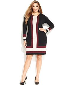 Long sweater dress plus size