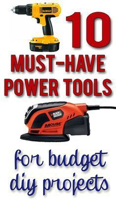 Love this list, which includes the three tools you need to do just about any DIY project! Just in time for fathers day!