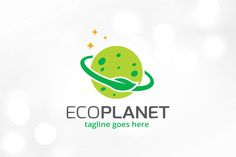 Eco Planet Logo Template by @Graphicsauthor