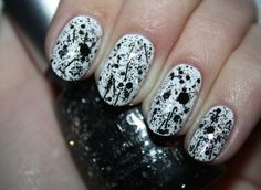 China Glaze Glitz 'N' Pieces with black Bitz 'N' Pieces. Click the photo to see the full swatch review!