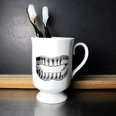 Toothbrush Mug by BROOKLYNrehab | BARB AND BEAR