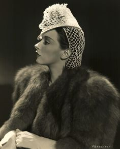 "1939 - Furs, hat and gloves were the ""in-look.""  Ladies loved glamor."