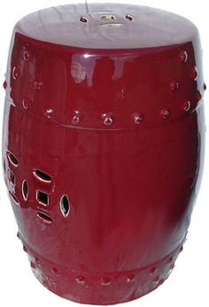 18 H Oriental Oxblood Glazed Porcelain Garden Stool Asian Garden, Chinese Garden, Chinese Drum, White Pot, Wooden Plates, Plate Stands, Oxblood, Glazed Ceramic, Houzz