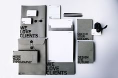 HyperBrand Identity by HyperBrand, love the way the type starts at the edge of the page