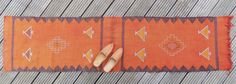Vintage Moroccan Cactus Silk Runner Orange 1.6' x 6.4'