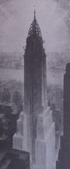 Hugh Ferris sketch of Chrysler Building